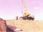 ПК 587+30, фундамент трубы, установка