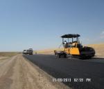 Laying asphalt AKM Tranche 3
