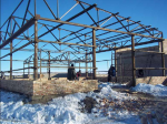Road maintenance depot, storage of salt