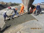 Бетонирование откосов русла реки на мосту ПК 179