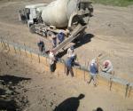Прием бетона на упор защитной бермы пк 106- пк 103
