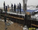 Concrete works for bridge PK322+00