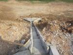 651+162-km 651+221 L. Water discharge construction on embankment slope