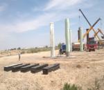 ПК729+17,6 Путепровод , бетонирования колон  на ростверке №4
