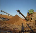 Separating course aggregate from sand