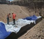 Бетонные работы по водопропускной трубе, Дженгиз Иншаат Транш 3