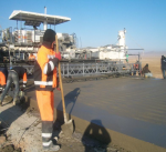 Concrete laying, CWC Cengiz Inshaat Tranche 3